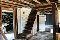 A staircase in a long forgotten home Nova Scotia