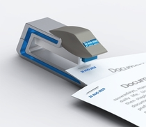 A stapler that staples and dates papers