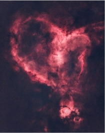 A Starless Heart Nebula from the Universe for Valentines Day