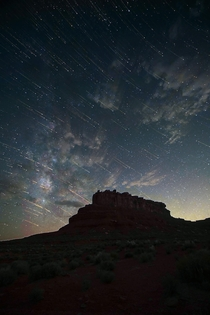 A Starlit Evening at Valley of the Gods Utah