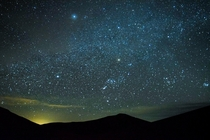A starry sky over Great Sand Dunes National Park CO