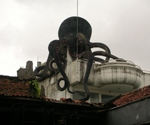 A statue of octopus in Bandung Indonesia