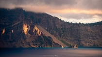 A Storm Brewing - An evening at Crater Lake OR