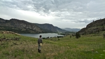 A storm brewing in the Okanagan Valley of British Columbia Canada