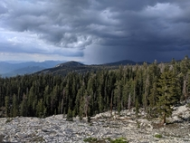 A storm brewing over the Sierras