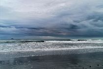 A storm brewing St Claire Beach Dunedin NZ