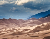 A storm brews over Colorados Great Sand Dunes