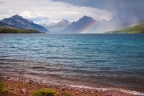 A storm came and went over Lake McDonald in Glacier National Park  OC