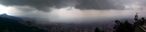 A storm over Bogota from  ft