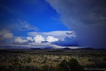 A Storm Rolls In Over the Plain on the Road to Tombstone AZ