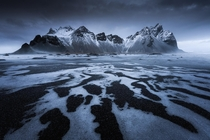 A stormy afternoon at Vestrahorn Iceland x