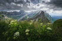 A stormy afternoon in the Swiss Mountains Switzerland x