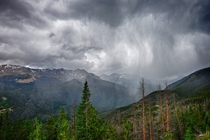A Stormy Day in Rocky Mountain National Park CO