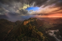 A stormy sky above Wotans Throne Arizona  By Mark Metternich