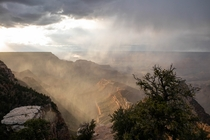 A Stormy Sunset over the Grand Canyon