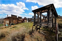 A strange little theme park ghost town complete with funeral wagon I found in Nevada OC x