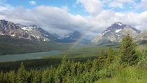 A stunning overlook in Glacier National Park