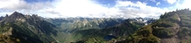 A stunning panorama I took at over  feet Winchester Fire Lookout WA