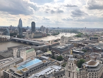 A stunning view of London from the Golden Gallery of St Pauls Cathedral definitely worth the  steps