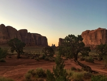 A summers evening in Monument Valley August