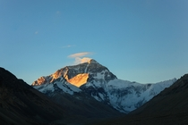 A sunrise to remember Mount Everest viewed from Tibet