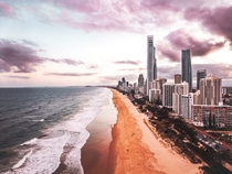 A Sunset From Above  Surfers Paradise Australia  x