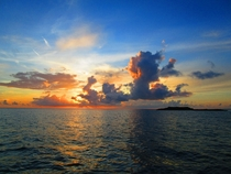 A sunset in the Exumas the Bahamas