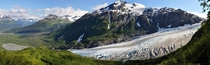 A sunshine covered Exit Glacier in Seward Alaska x