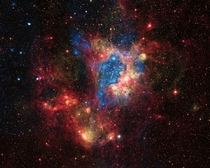 A surprising superbubble - the star-forming region LHA -N