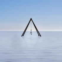A swing in the middle of a toxic lake Salton Sea