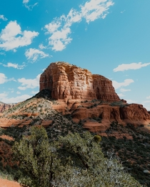 A temperate spring afternoon at Bell Rock in Sedona AZ
