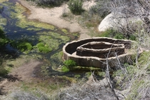 A th Centure drinking station for cattle in Joshua Tree National Park