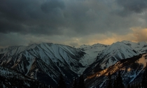A threatening sunrise in the San Juan Mountains of Colorado
