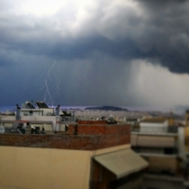 A thunder in Athens Greece I was lucky to catch