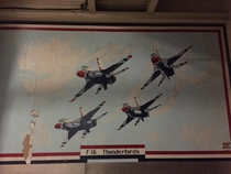A Thunderbirds mural I found in an abandoned hanger on an old Airforce base