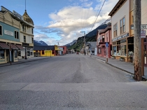 A town with a year-round population of  - Skagway Alaska