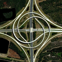A turbine interchange connecting state routes A and  in Jacksonville Florida Aldo known as Whirpool interchange