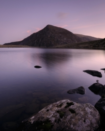 A typical Welsh morning - Pen yr Ole Wen reflecting on Llyn Idwal