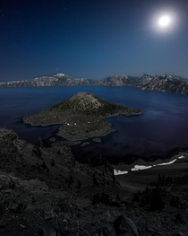 A unforgettable night at Crater Lake Oregon