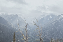 A valley in North Cascades National Park WA during a storm  OC