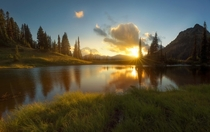 A Very Peaceful Moment at Tipsoo Lake in Mount Rainier National Park WA
