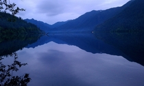 A very serene Lake Crescent WA -