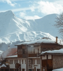A very snowy day in Greece - Metsovo Town