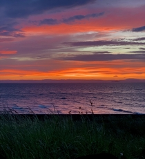 A vibrant Firth of Forth sunset
