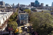 A Victorian home built in the s  years old originally located on Franklin Street was moved to its new location to Fulton Street in San Francisco California on Feb
