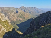 A view during my km trail race in Jonkershoek South Africa