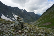 A view from Kuyguk Pass m Altai Mountains Russia