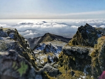 A view from Snowdon North Wales  OC