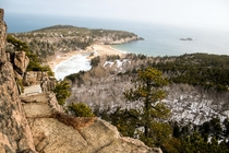 A view from The Beehive in Acadia National Park