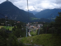 A view from the chairlift  Hoch-Imst Imst Austria